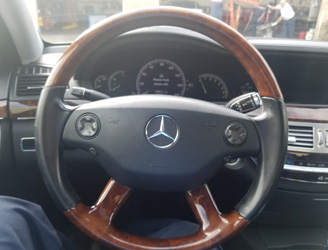 Mercedes Benz steering wheel.